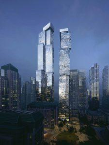 Mirvish+Gehry Condos - mirvish gehry night 225x300