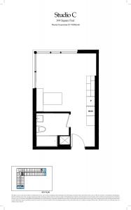 Studio C Floor Plan - FloorPlan 001 187x300