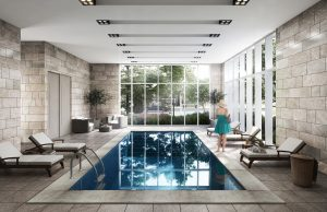 The Founders Residences - Interior Pool Rendering - TFR TownhomeResidences InteriorPool 300x194