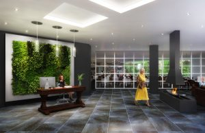 The Founders Residences - Reception Rendering - TFR TownhomeResidences InteriorReception 300x194