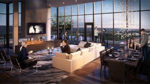 Sky Lounge & Sunset Terrace Amenities Rendering - Odyssey Condos Rendering Dining 300x169