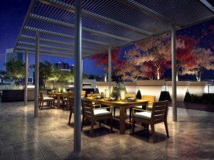 Rooftop Terrace Rendering - Roof Top Dining 300x225