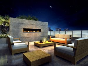 Rooftop Terrace Rendering - Roof Top Fireplace Lounge 300x225