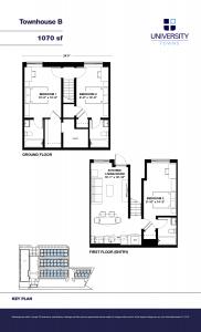 Townhouse B Floorplan (1) - Townhouse B Floorplan 1 182x300