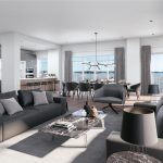 Aqualuna Condos at Bayside - Living Room