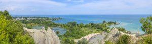 Panorama of Scarborough Bluffs. Toronto, Canada