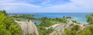 Panorama of Scarborough Bluffs. Toronto, Canada
