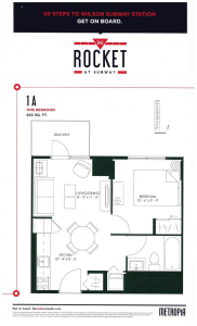 The Rocket - 402 sq ft Floor Plan - TheRocket 402sqft page 1 182x300