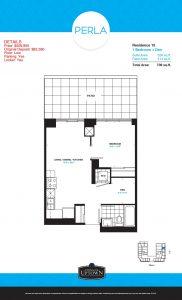 Perla Floor Plan - 1 2 182x300