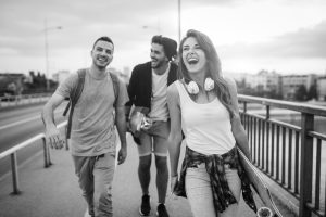 Group of happy friends hang out together - YoungPeopleWalking 300x200