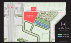 The New Lawrence Heights - Site Plan - SitePlan TheNewLawrenceHeights 300x183