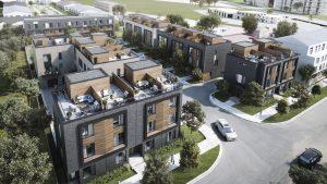 Terraces at Eglinton City Towns - TerracesAerialView 300x169